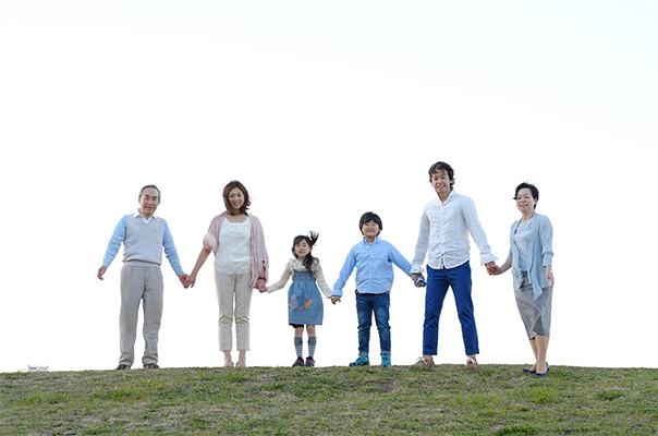 仲のいい家族写真